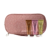 Soft Cream Eye Color Set: #03 Sage, #07 Sugar Pink, #08 Burnt Orange (With Double Zip Pink Cosmetic Bag) (3pcs+1bag)