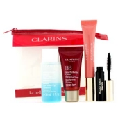 The Beauty In A Minute Kit: 1x Eye Makeup Remover + 1x BB Cream + 1x Lip Perfector 1x Mascara + 1x Bag (4pcs+1bag)